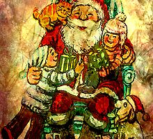 CHRISTMAS ~ ON SANTA'S LAP by Tammera