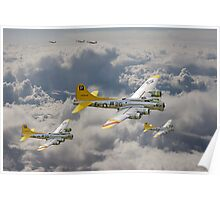 B17 - 487th Bomb Group Poster
