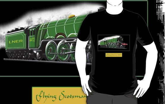 Steam Locomotive - The Flying Scotsman 1923, T-shirt by Dennis Melling
