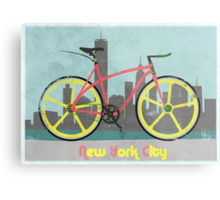 Love New York, Love to Cycle Metal Print