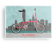 Brompton City Bike Metal Print