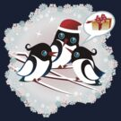 Winter Birds Christmas Wish - Cute Tee by ruxique