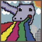Pixel Rainbow Dragon (50x50p) by Jamestheamazing