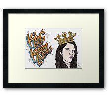 King Kman Framed Print