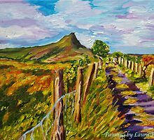 Horseshoe bend Gleniff, Sligo, Ireland (painted from a photo by Sean McAughey). by Laura Butler