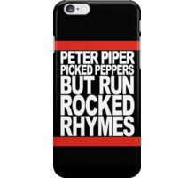 Run Rocked Rhymes iPhone Case/Skin