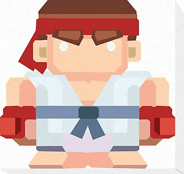 Ryu - Blockfighter by paperboyjim