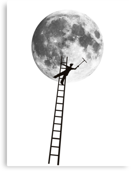 MOONSHINE black and white illustration and silhouette by SFDesignstudio