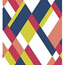 Multi-Colored ZigZag Pattern - Iphone Case  by sullat04