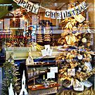 Merry Christmas Store Window and Reflections by Jane Neill-Hancock