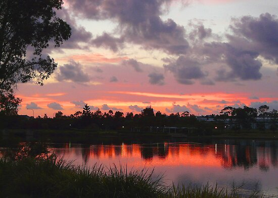 Pre-Sunrise Over Lake Eden by stevealder