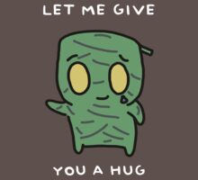 "Amumu - ""LET ME GIVE YOU A  HUG"" - WHITE TEXT/DARK SHIRTS by baconpiece"