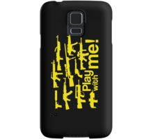 Play with me! - yellow Samsung Galaxy Case/Skin