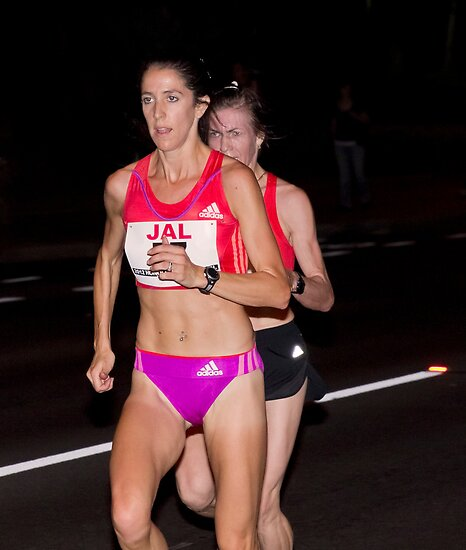 Stephanie Rothstein-Bruce And Svetlana Zakharova At The 2012 Honolulu Marathon by Alex Preiss
