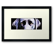 Black Labrador Retriever Dog Art - Lab Eyes Framed Print