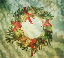 Sparkling Christmas Wreath by Denise Abé