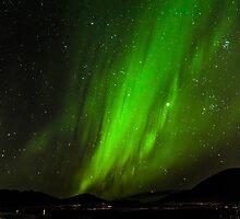 Green solar wind by Ólafur Már Sigurðsson