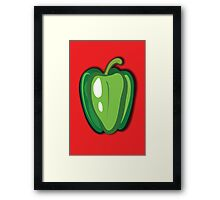 Green Pepper Framed Print