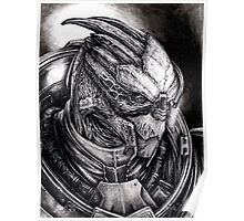 Garrus Portrait in Charcoal - Print Poster