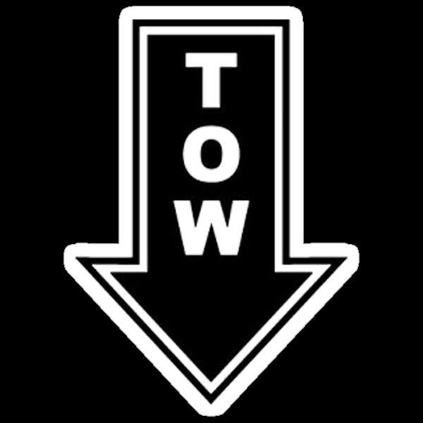 TOW black sticker by Tony  Bazidlo