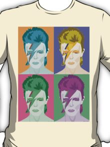 Pop Art Aladdin Sane Bowie Clothing/Sticker T-Shirt