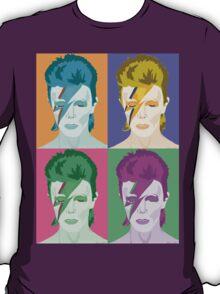 Pop Art Aladdin Sane Bowie Clothing/Sticker T-Shirt