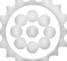 White Lotus Symbol Sticker