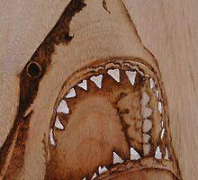 PYROGRAPHY: Shark's Teeth by aussiebushstick
