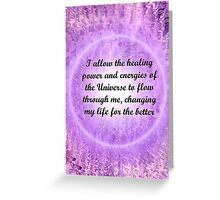 Affirmations 1 Greeting Card