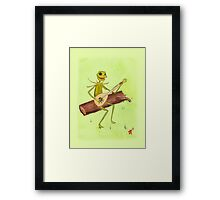 It Ain't Easy Being Green Framed Print