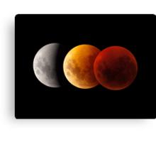 Lunar Eclipse - Three Moons Canvas Print