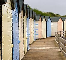 Beach Huts, Bude by Adrian Whiteley