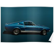 1968 Ford Mustang Shelby Cobra GT500KR Poster