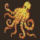 Orange Octopus by wlartdesigns