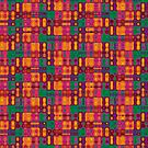 Modern Tribal Trip Tile Pattern iPhone & iPod Case Covers by webgrrl