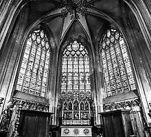 B&W Basilica of the Holy Blood - Bruges by Nickfree1