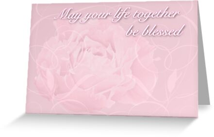 Wedding Blessings Greeting Card - Pink Peony by MotherNature