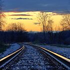 Light on the Rails by DArthurBrown