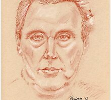 Harry Redknapp - portrait sketch drawing by Paulette Farrell