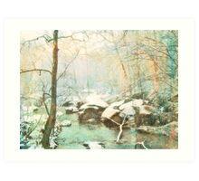 Winter's Kiss Art Print