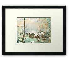 Winter's Kiss Framed Print