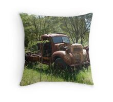 Wasting away in West Wallsend Throw Pillow
