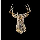 Black Camo Buck Iphone Case by vehrtical