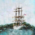 Coast Guard Cutter Eagle vintage grunge style iPad iPhone cover by campyphotos