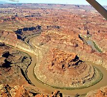 Aerial of Colorado River, The Loop by Margaret  Hyde