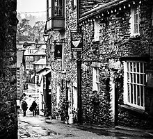 Sheila's Cottage in Ambleside, Lake District, in monochrome by Elana Bailey
