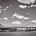 Bridging the Brisbane River - Australia by Norman Repacholi
