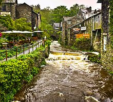 Water flowing at Ambleside, Lake District, UK by Elana Bailey