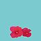 Red flowers on light blue by CatchyLittleArt