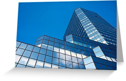 Blue Sky on Office Building Facade by Artur Bogacki